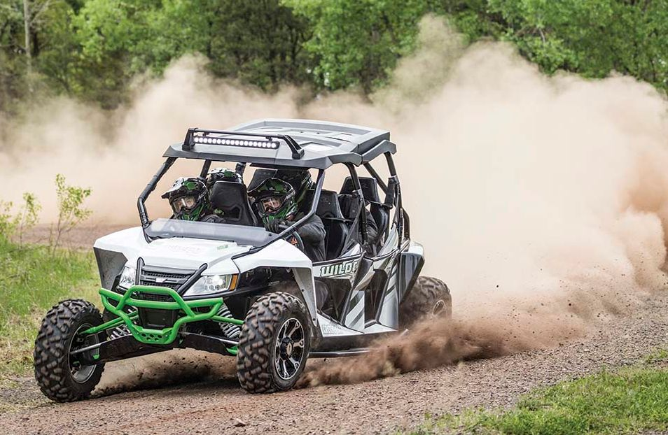 2016 Arctic Cat Wildcat 4X drifting and roosting.