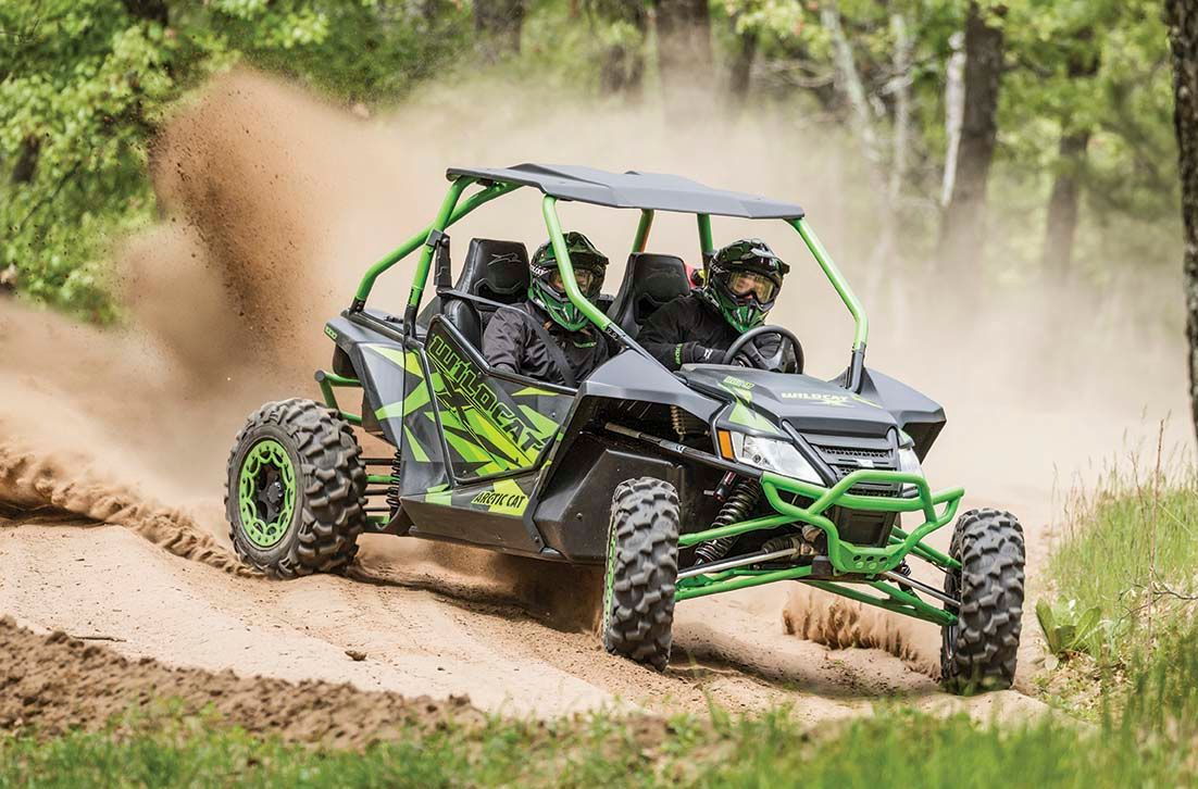 2016 Arctic Cat Wildcat X drifting and roosting.