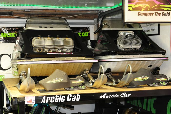 The Ische Collection of vintage Arctic Cat. Photo by ArcticInsider.com