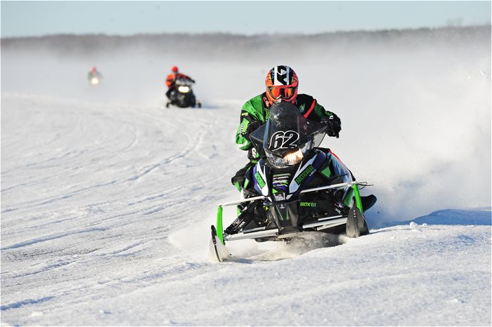 Team Arctic's Lance Efteland won both Semi Pro classes at USXC Pine Lake. Photo by ArcticInsider.com