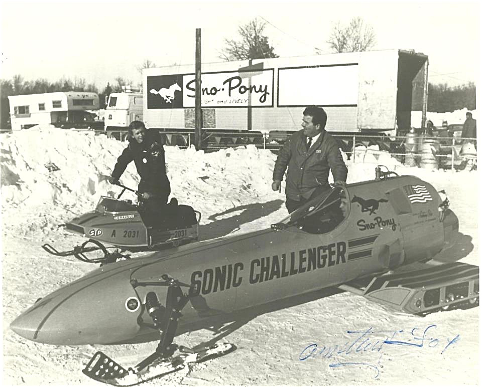 Sno-Pony and Sonic Challenger snowmobiles.