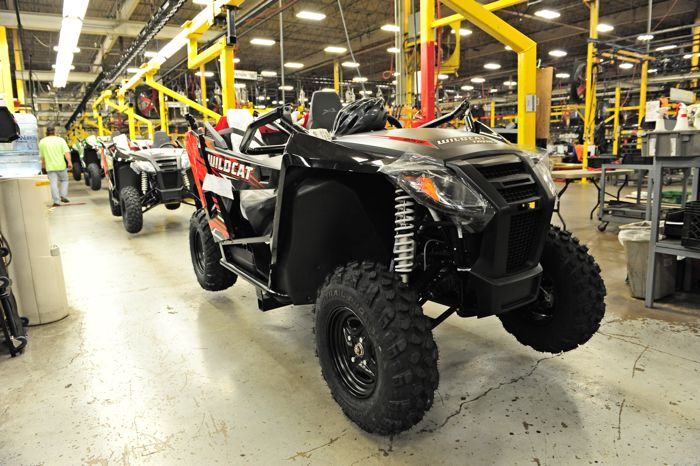Arctic Cat Wildcat Trail on the assembly line. Photo ArcticInsider.com