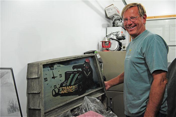 Team Arctic's Jim Dimmerman and the classic clock. Photo ArcticInsider.com