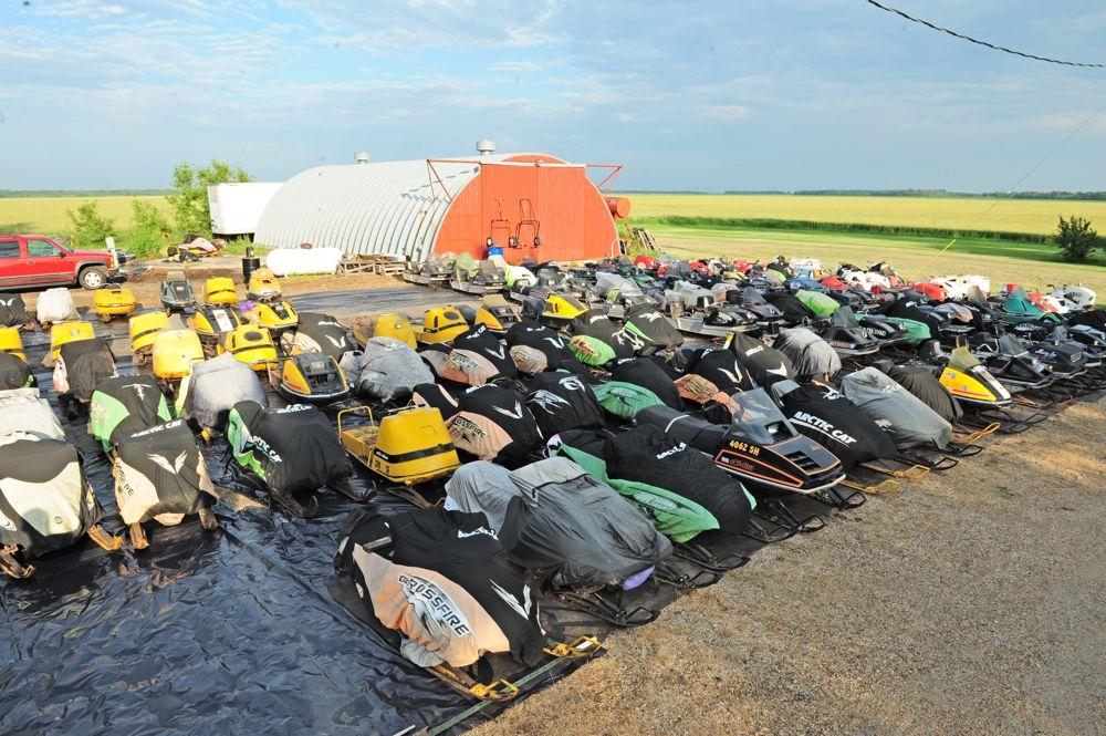 Greg Spaulding's collection of vintage sleds. Arctic Cat. Photo ArcticInsider.com