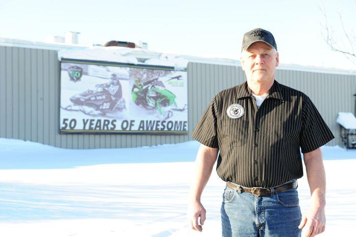 Team Arctic oval legend Larry Coltom. Photo by ArcticInsider.com