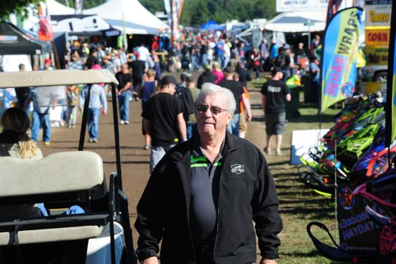 Arctic Cat's Roger Skime at Hay Days. Photo by ArcticInsider.com