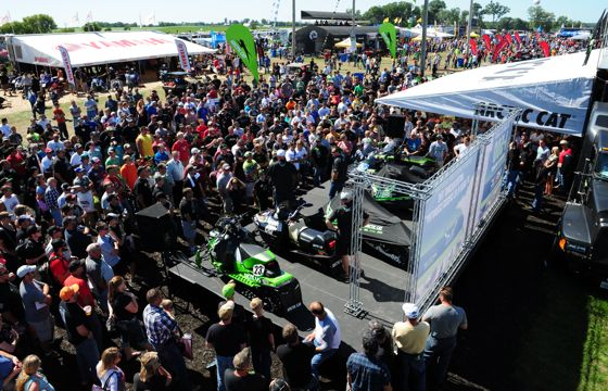 Arctic Cat booth at Hay Days. Photo by ArcticInsider.com