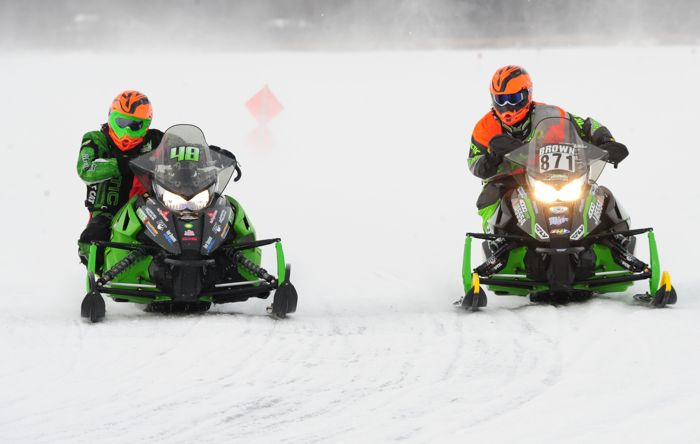 Team Arctic's Ean Voigt and David Brown. Photo by ArcticInsider.com