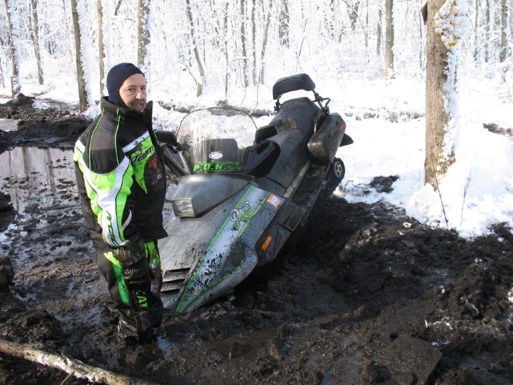 Rodney Dragan and his 100-105 mph Arctic Cat Pantera.