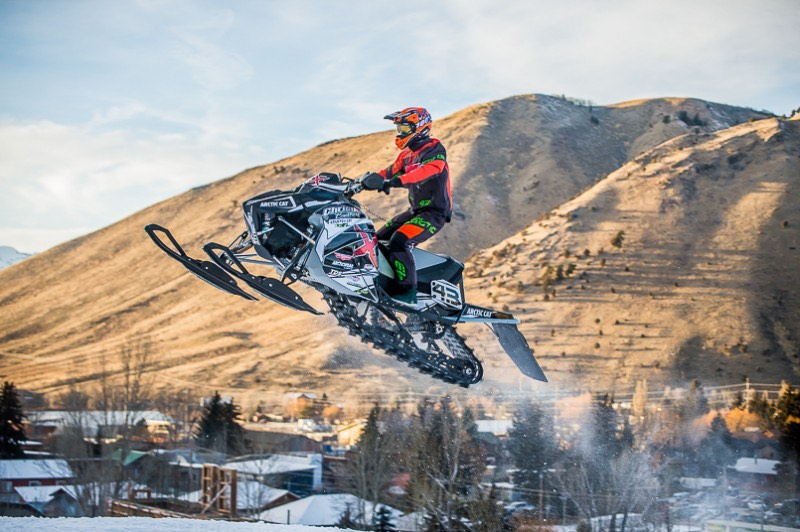 Two podiums for Logan Christian at Jackson snocross. Photo by Lissa.