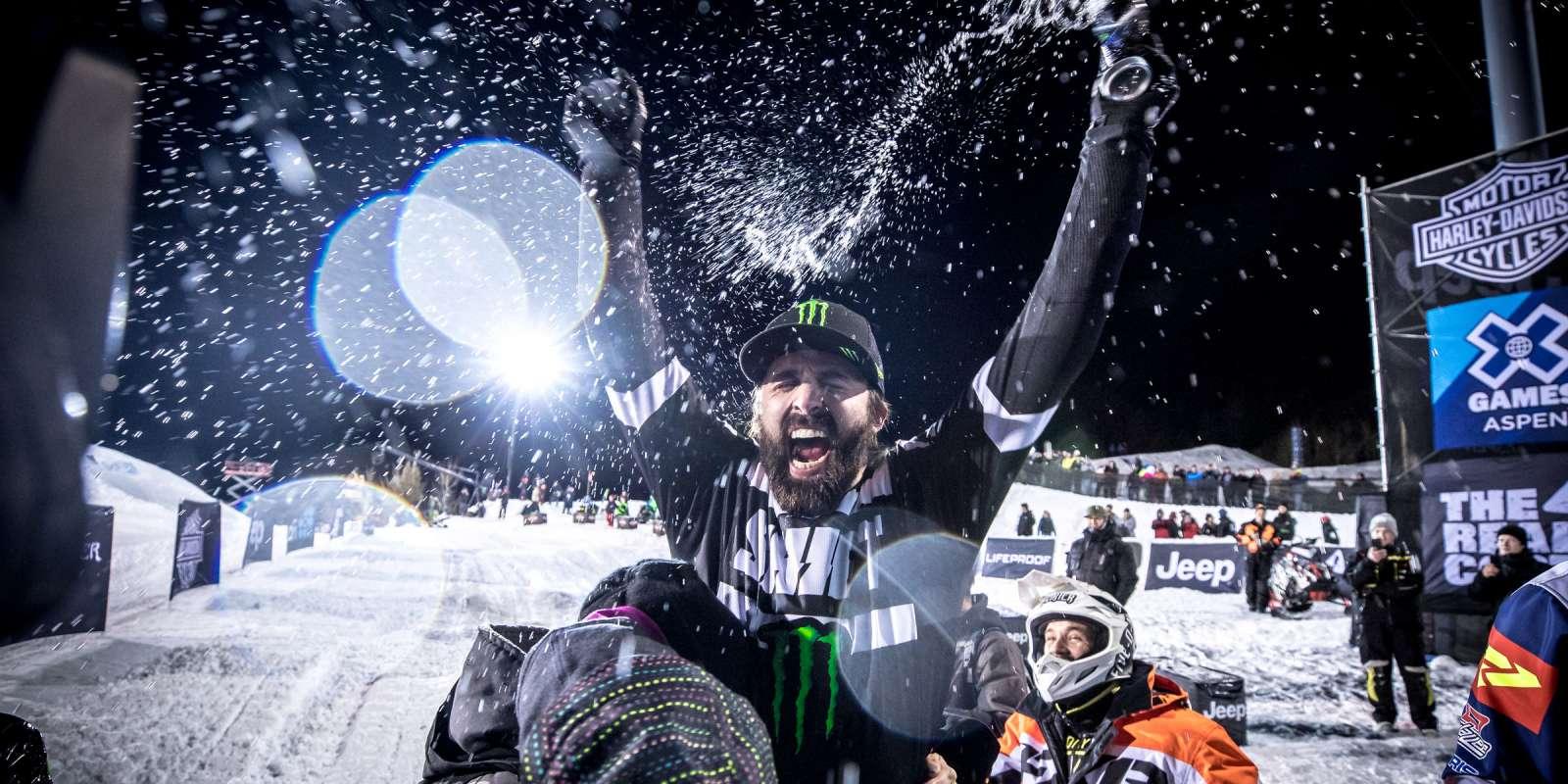 Team Arctic Black Cat Brett Turcotte goes double-Gold at X Games