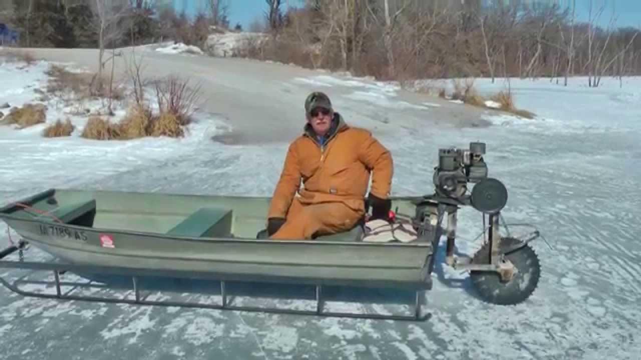 TGIF the snowmobile fishing vehicle.