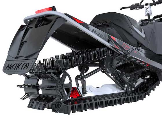 The Riot X 146 with 2.6 lug track works on the trail, but was designed to primarily play in deep snow conditions.