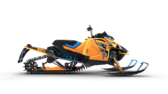 2021 Riot X with Alpha Single-Beam Rear Suspension is the perfect deep powder play toy