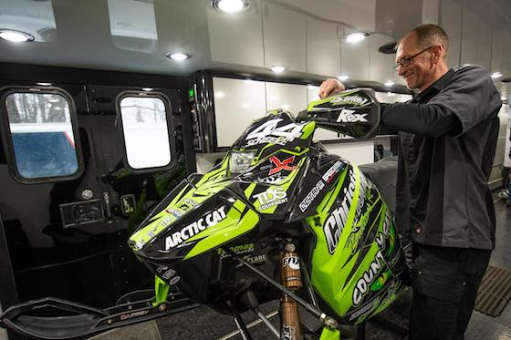 Aaron Scheele was headed to CBR shop in Fertile to start wrenching on the 2021 ZR6000 R-SX