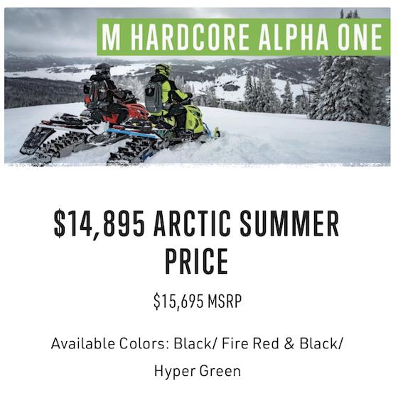 2021 Summer Sales PreOrder M Hardcore Alpha Offer