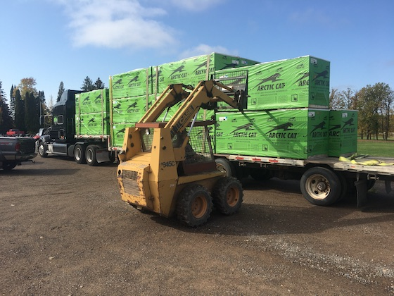 More 2021 Arctic Cat Snowmobiles were arriving at Thomas Sno Sports this week.