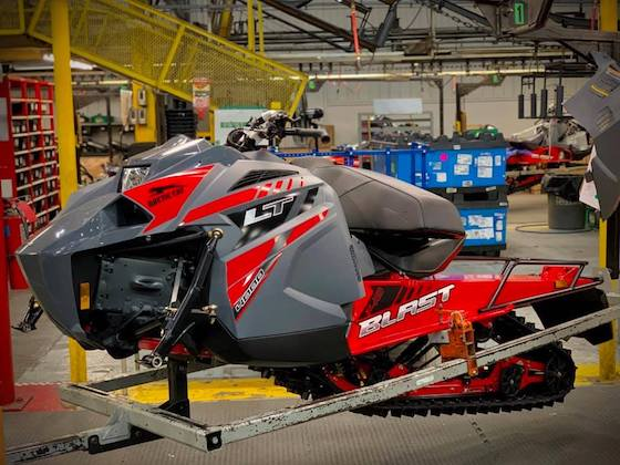 The 2021 Blast LT is rolling off the line in Thief River Falls, MN