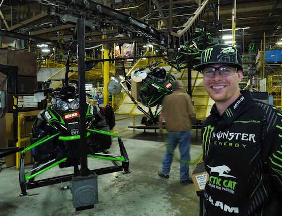 Tucker visiting the TRF Factory during the production of his 2015 Race Replica
