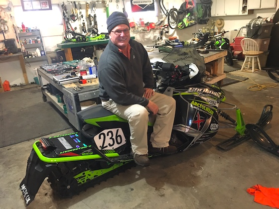 Joey Hallstrom poses in his home shop in TRF