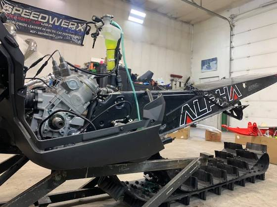 Jason Nethercott has this Alpha all stripped down