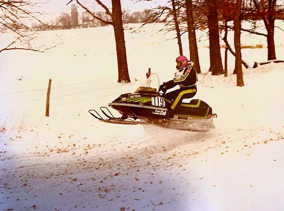 Carmon on his 77 Cross Country Cat