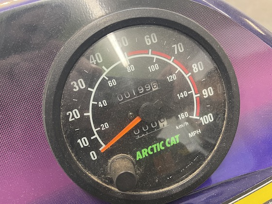 This speedo doesn't lie...that says 199 original miles!