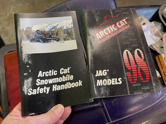 The original 98 Jag owners manual and safety manuals