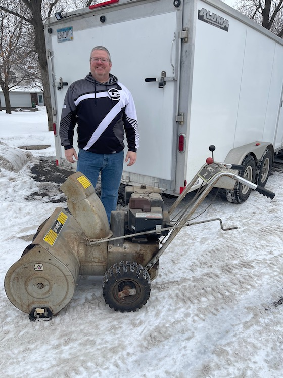 Owner, Jeff, who I purchased Arctic snowblower from.