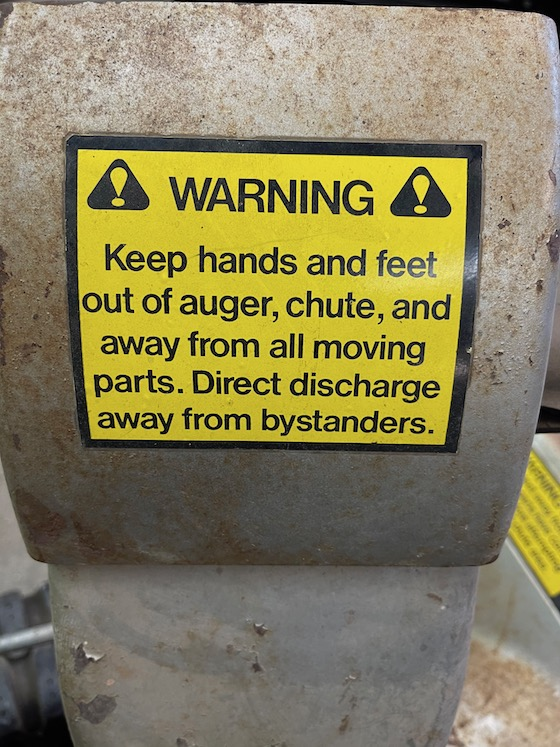 WARNING! The owner/operator knows nothing about what he's doing