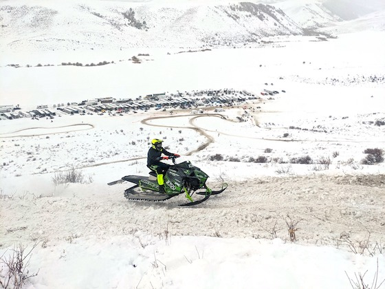 Cool perspective of Bear Lake Course and Tapio Racing