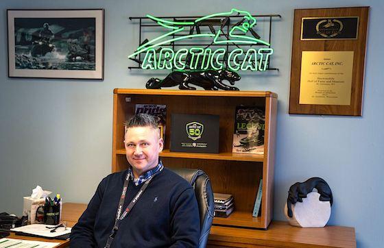Troy Halvorson, interim VP Arctic Cat