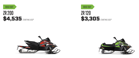 Units Like ZR 120 and 200 are sold out.