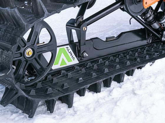 ALPHA-ONE single-beam rear suspension