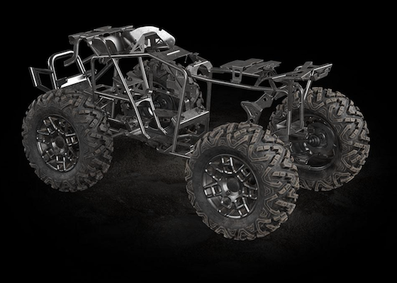 The 2022 Alterra 600 has an all-new chassis