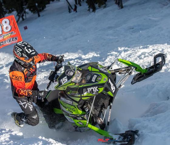 Wes Selby won both 600 and 700 stock classes on his ZR6000 SX