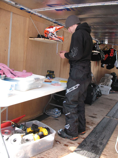 Paul Bauerly, professional snocross racer and sandwich maker