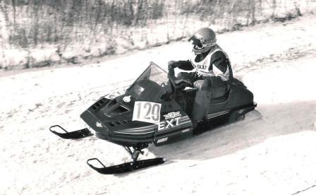 Kirk Hibbert winning the 1990 I-500 on an Arctic Cat EXT Special