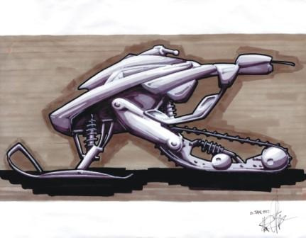 Arctic Cat drawing by Nathan Blomker