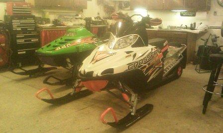 Shane's ZR and XF8... good looking sleds