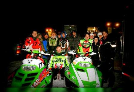 This is what racing is all about (well... it's also about slamming energy drinks)