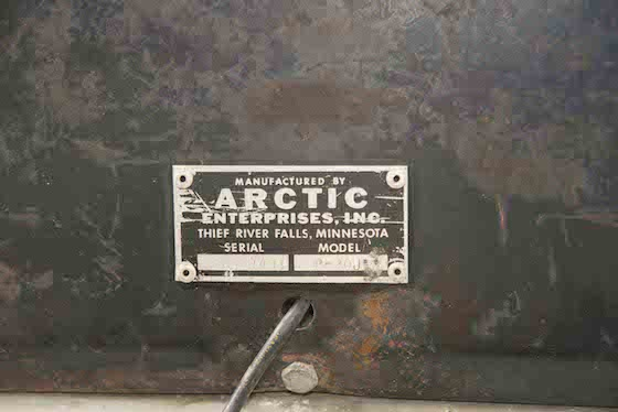 Arctic Enterprises VIN plates were simple and sexy