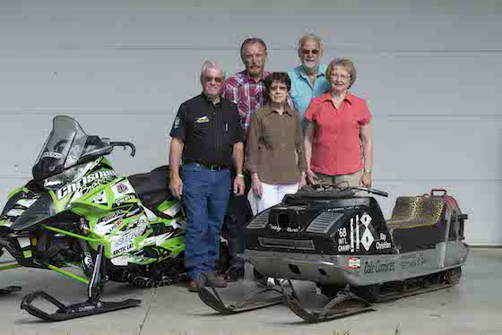 Roger Skime, Dale and Ray pose with the 68 Panther and Ryan Simons Christian Bros Racing ZR