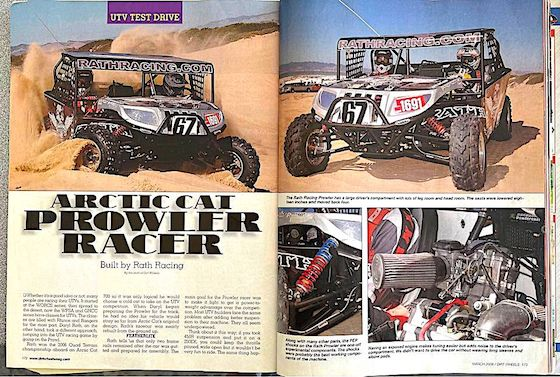 DirtWheels Magazine write-up on the Prowler