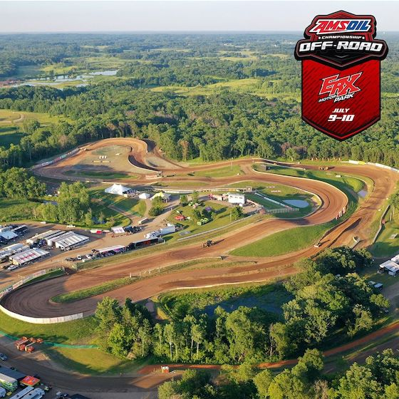 A great aerial view of the ERX Motorpark track. The grounds are massive. Wear some good walking shoes.