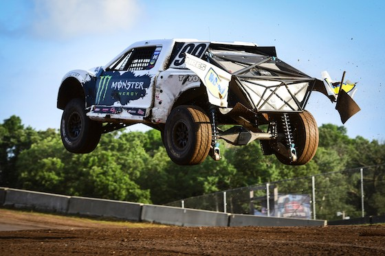 The Pro4 truck races are wicked cool! These guys throw down some fast lap times and give er all the onions in the corners and flyaways.