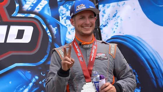 Jake Jorgenson won the Sportsman SxS class on Friday in his Speedwerx Wildcat XX