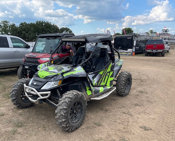 ERX allows you to drive your pit vehicles around the grounds. I spotted some cool Wildcats.