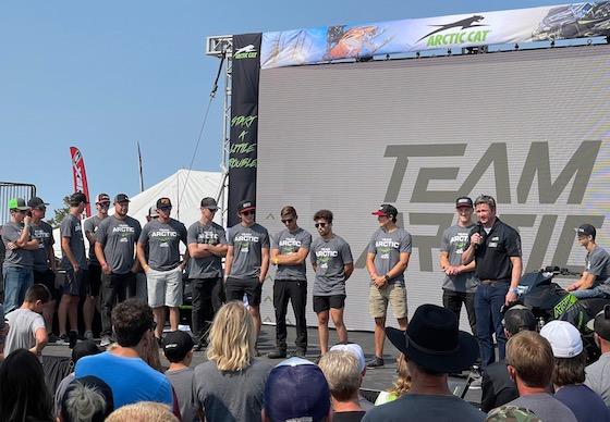 Troy Halvorson introduced Team Arctic racers