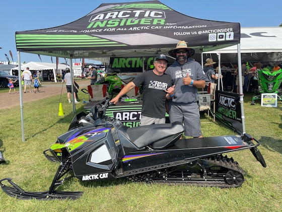 """Team Arctic Watercross multi-champ, Dale """"29er"""" Lindbeck stopped by to visit!"""